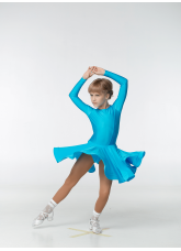 Рейтинговое платье 420 ДР-К-Кр Dance.Me, бифлекс, лазуревый