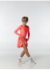 Рейтинговое платье 420 ДР-К Dance.Me, бифлекс, корал неон