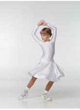 Бейсик 319ДР-402-11 Dance.me, Украина, Бифлекс+гипюр, белый