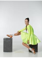 Бейсик 319ДР-371-11 Dance.me, Украина, Бифлекс+гипюр, лимонный