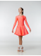 Рейтинговое платье 420 ДР-К-Кр Dance.Me, бифлекс, корал неон