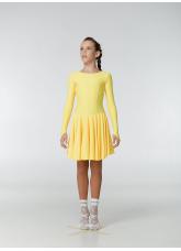 Рейтинговое платье 420 ДР-К Dance.Me, бифлекс, желтый