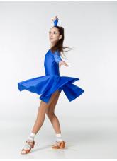 Рейтинговое платье 420 ДР-К Dance.Me, бифлекс, электрик