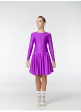 Рейтинговое платье 420 ДР-К Dance.Me, бифлекс, фиолетовый