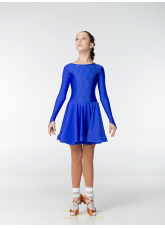 Рейтинговое платье 420-1 ДР-К-Кр Dance.Me, бифлекс, электрик