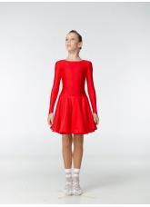 Рейтинговое платье 420-1 ДР-К-Кр Dance.Me, бифлекс, красный