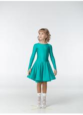 Рейтинговое платье 420 ДР-К-Кр Dance.Me, бифлекс, зеленый