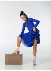 Dance Me Рейтинговые платья / Бейсик 269-402-11, электрик, бифлекс+гипюр