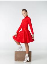 Бейсик 198-274-11 Dance.me, Украина, Бифлекс+гипюр, Красный №17