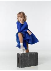 Dance Me Рейтинговые платья / Бейсик 198-274-11, электрик, бифлекс+гипюр