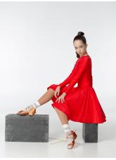 Бейсик 319ДР-402-11 Dance.me, Украина, Бифлекс+гипюр, Красный №17