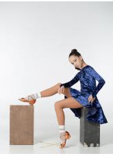 Рейтинговое платье 420-13 С-ДР-Кр Dance.Me, бархат, электрик