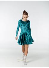 Рейтинговое платье 420-13 С-ДР-Кр Dance.Me, бифлекс, изумрудный