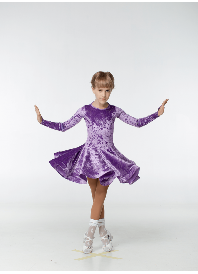 Рейтинговое платье 420-13 С-ДР-Кр Dance.Me, бархат, сиреневый