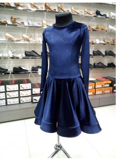 Рейтинговое платье 420-13А-ДР-Кр Dance.Me, синий