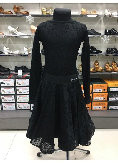 Dance Me Рейтинговые платья / Бейсик 269-402-11, черный, бифлекс+гипюр