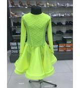 Рейтинговое платье 420-11 ДР-К-Кр Dance.Me, бифлекс, лимонный