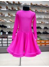 Рейтинговое платье 420 ДР-К-Кр Dance.Me, бифлекс, малиновый