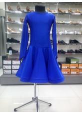 Рейтинговое платье 420 ДР-К-Кр Dance.Me, бифлекс, электрик