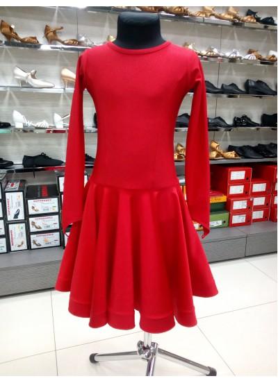 Рейтинговое платье 420 ДР-К-Кр Dance.Me, бифлекс, красный