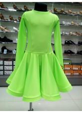 Рейтинговое платье 420 ДР-К-Кр Dance.Me, бифлекс, салатовый