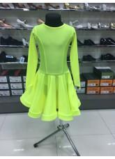 Рейтинговое платье 420 ДР-К-Кр Dance.Me, бифлекс, лимонный
