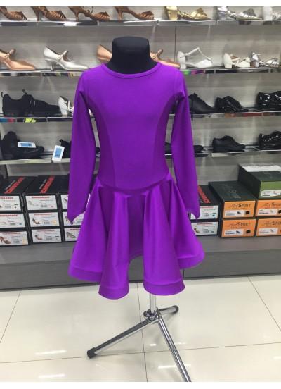Рейтинговое платье 420 ДР-К-Кр Dance.Me, бифлекс, фиолетовый
