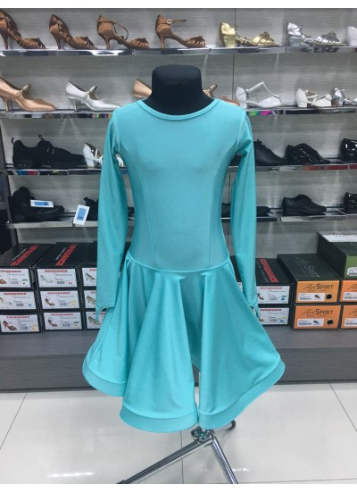 Рейтинговое платье 420 ДР-К-Кр Dance.Me, бифлекс, мятный