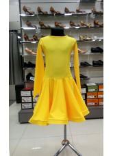 Рейтинговое платье 420 ДР-К-Кр Dance.Me, бифлекс, желтый