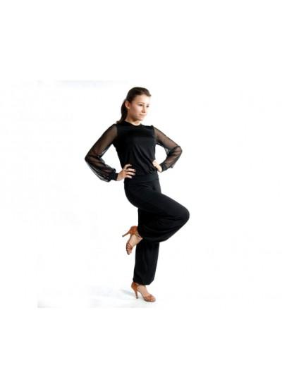 Dance Me Комбинезон детский КМБ41, масло / сетка, черный