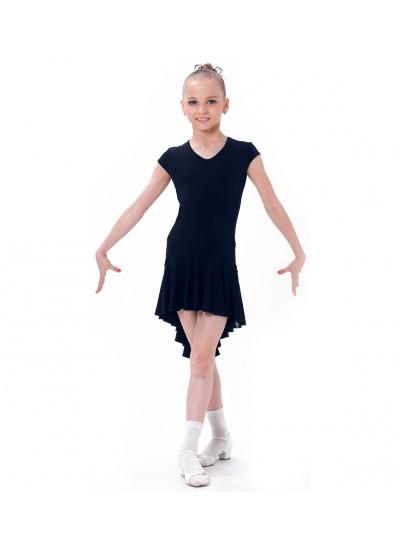 Dance Me Платье детское ПЛ71-2, масло / сетка, черный, лео