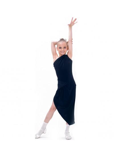 Dance Me Платье детское ПЛ173-4, масло / кружево, черный