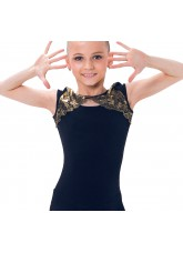 Dance Me Платье детское ПЛ163-4, масло / кружево, черный, золото