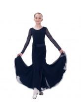 Dance Me Платье детское ПС178-Кри, масло / сетка, черный
