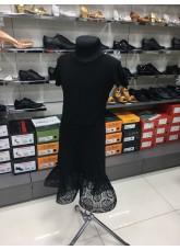 Платье для девочки ПЛ443-11 Dance.me, масло+гипюр, черный