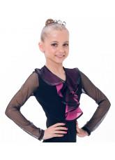 Dance Me Блуза детская БЛ39-3, масло / цветная сетка, розовый