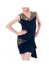 Dance Me Блуза детская БЛ160-4, масло / сетка / кружево, черный, золото