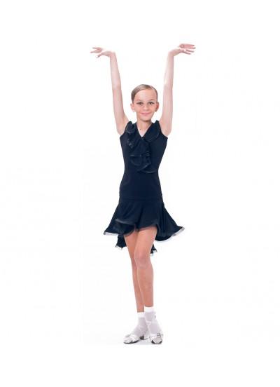 Dance Me Блуза детская БЛ39Кр, масло / сетка, черный