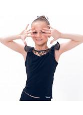 Dance Me Блуза детская БЛ105-2, масло / сетка, лео