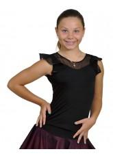 Dance Me Блуза детская БЛ105, масло / сетка, черный