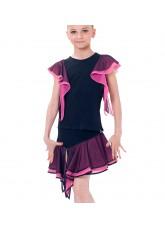 Dance Me Блуза детская БЛ24-3, масло / сетка, розовый