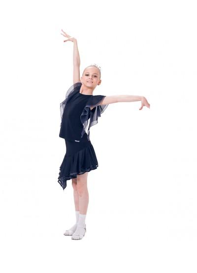 Dance Me Блуза детская БЛ24-3, масло / сетка, серый