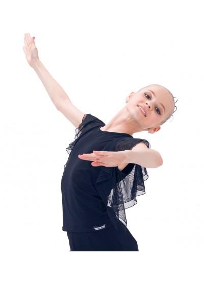 Dance Me Блуза детская БЛ24, масло / сетка, черный