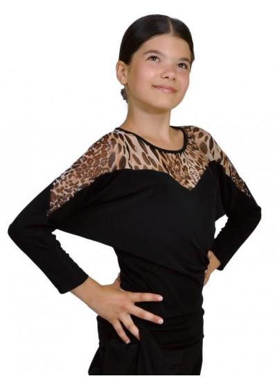 Dance Me Блуза детская БЛ153-2, масло / сетка, лео