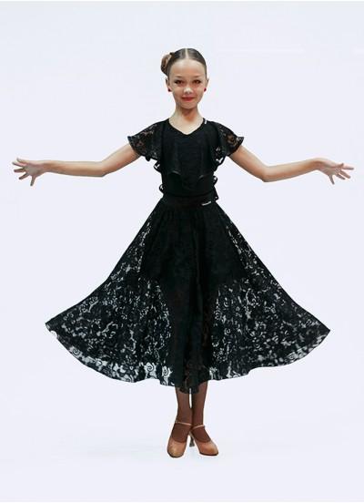 Юбка для девочки ЮС435-11 Dance Me, Масло+гипюр+бархат, Черный