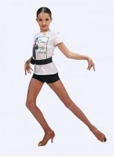 Футболка детская ФКР463, Dance Me, хлопок, белый