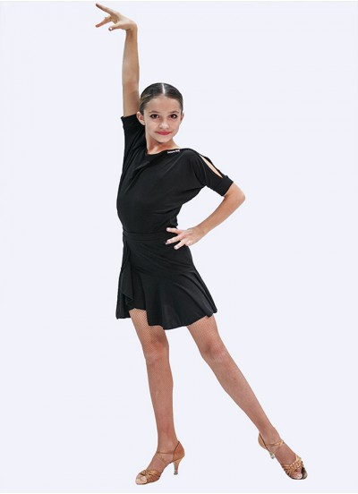 Юбка для девочки ЮЛ 440 Dance.Me, масло, черный