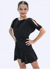 Блуза детская БЛ361 Dance.me, Масло, Черный