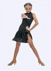 Платье для девочки ПС426 Dance.me, Украина, масло+гипюр, черный