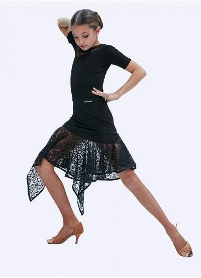 Юбка детская Латина ЮЛ21-11-14 Dance.me, масло+гипюр